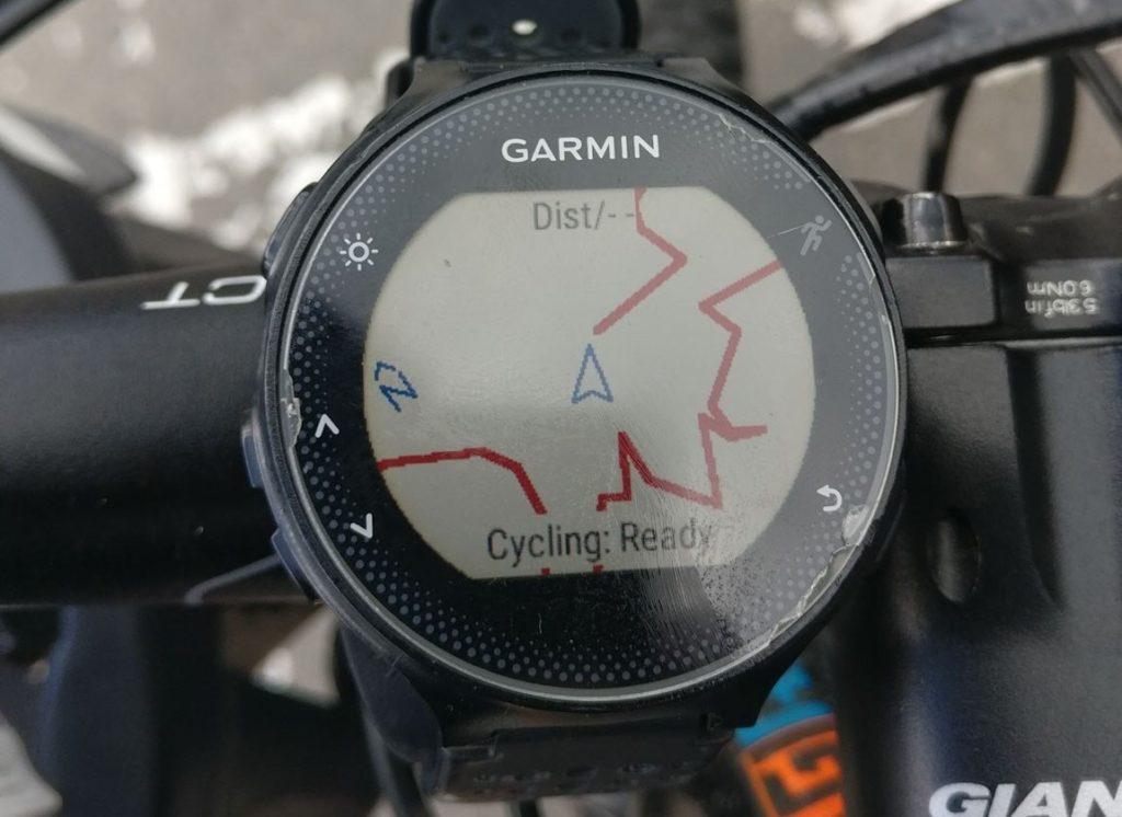 Aplicatia dwMap pe ceasul Garmin
