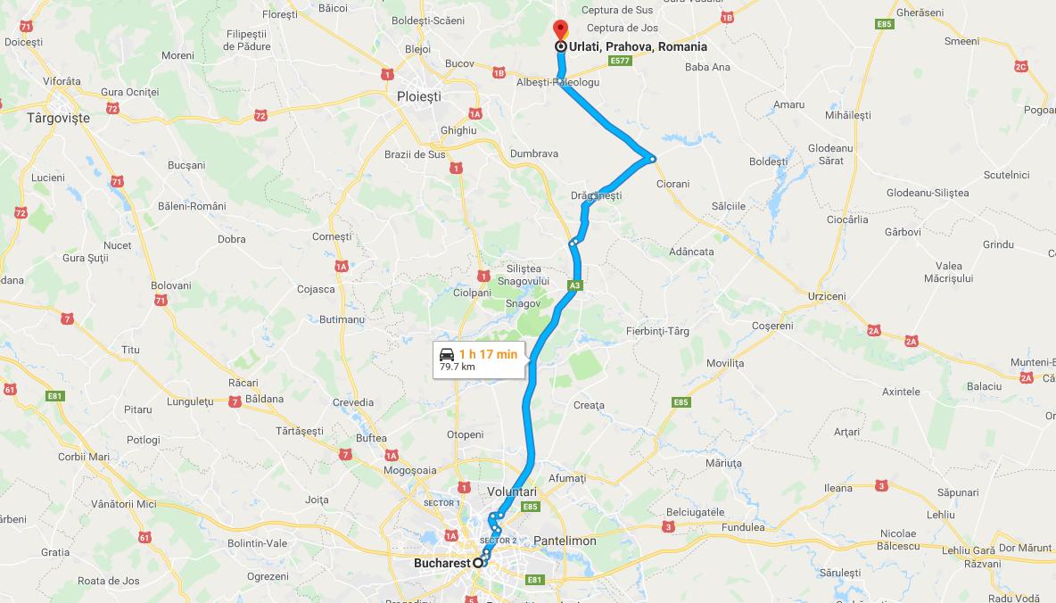 Drumul de la București la Urlați