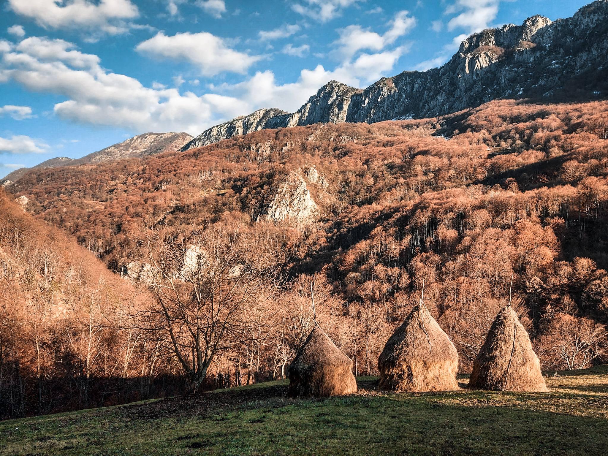 Peisajele dintre pașunile satului Ineleț