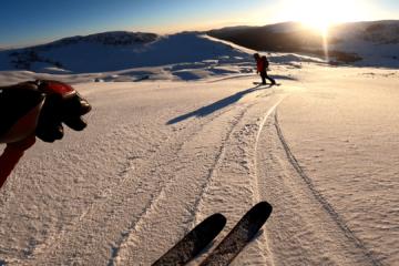 Freeride si schi de tură sub Vf Obârșia, Bucegi