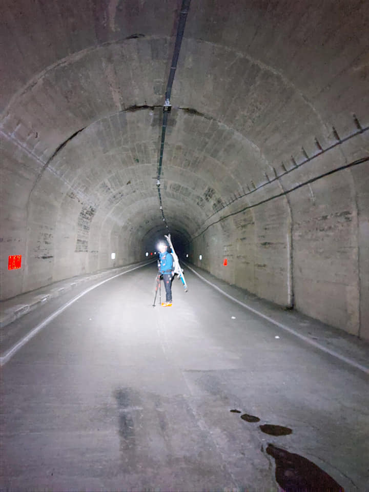 Traversarea tunelului Balea